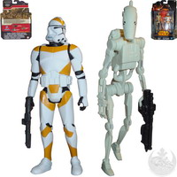 Utapau : Battle Droid and 212th Battalion Clone Trooper (MS04)